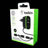 Зарядка Belkin 220v 2 USB + шнур Samsung/iPhone H0032 [14] (200)