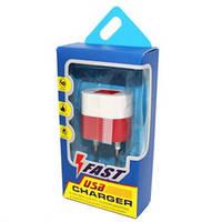 Адапетр 220 V FAST 2 USB H0038 [20] (250)