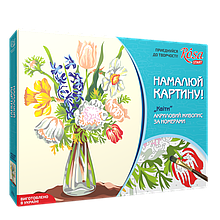 Набір, техніка акриловий живопис за номерами, «Квіти», ROSA START