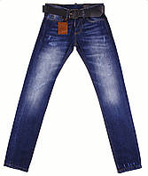 Мужские джинсы с ремнем Dsquared2, синие