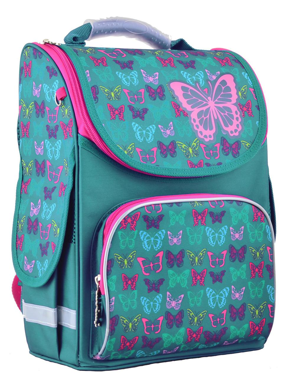 Рюкзак каркасный, Butterfly turquoise, 34*26*14 см, PG-11, Smart, 554449
