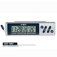 Часы автомобильные VST 7067 с термометром