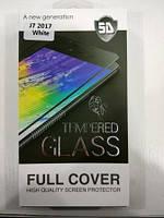 Панель передняя 5D GLASS J7 2017 (White, black, gold)