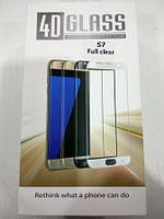 Панель передняя 4D GLASS S7 (Full clear, white, black, gold, blue)
