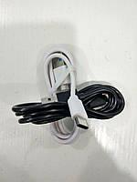 Шнур Type-C-USB T3 круглый (чёрный, белый)