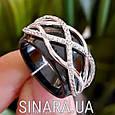Кольцо из керамики серебро 925 - Серебряное кольцо с керамикой, фото 3