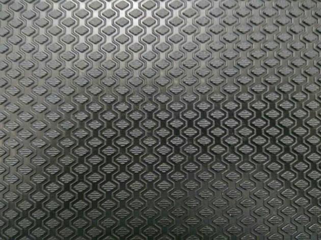 Гума набоєчна Ромб, 470x450х7 мм, кол. чорний, фото 2