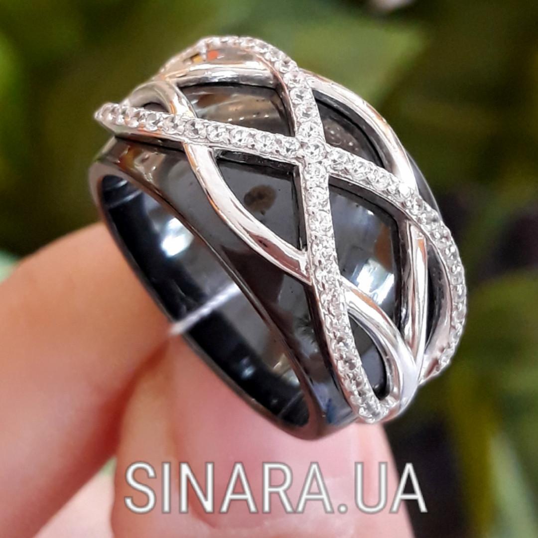 Кільце з кераміки срібло 925 - Срібне кільце з керамікою