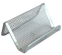 Підставка для візиток Optima 105х90х50 мм срібний (O36318-10)