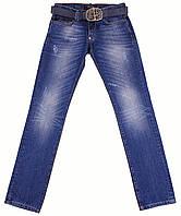 Мужские модные джинсы с ремнем Philipp Plein, синие