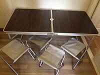 Стол + 4 стула, для активного отдыха и туризма,