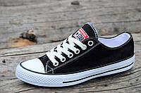 Кеды реплика Converse All Star Classic Low женские, подростковые текстиль черные практичные (Код: Ш1184)