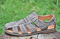 Босоножки, сандали мужские качественные коричневые подошва полиуритан практичные (Код: Ш1190)