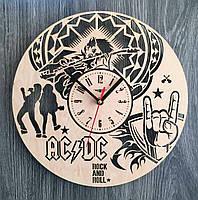 """Деревянные настенные часы """"AC/DC"""", фото 1"""