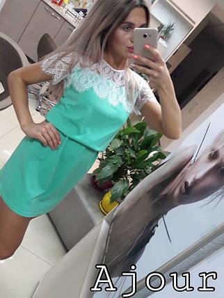 Красивое женское платье с кружевом и ремешком., фото 2