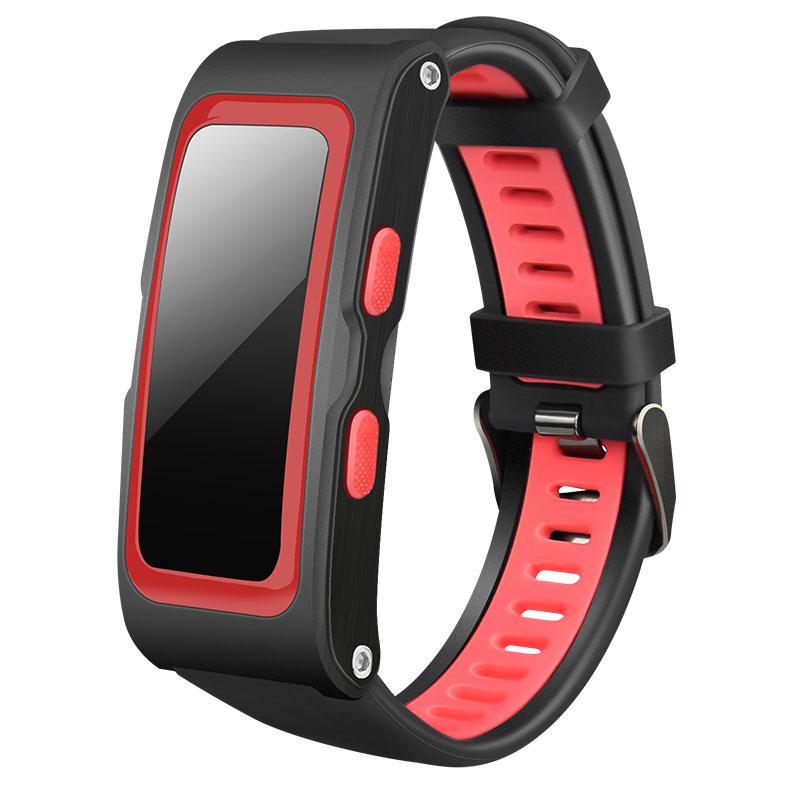 """Фитнес-браслет SUNROZ T28 Bluetooth Smart фитнес-трекер, 0,96"""""""" 220 mAh IP67 Черно-Красный (SUN0939)"""