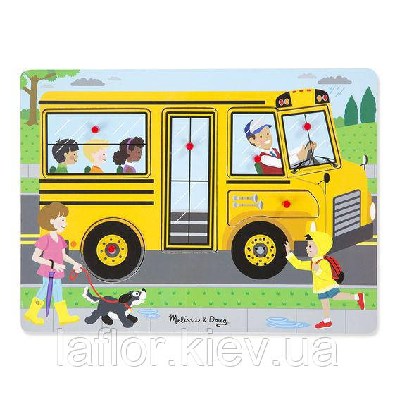 Звуковий пазл Шкільний автобус Melissa&Doug