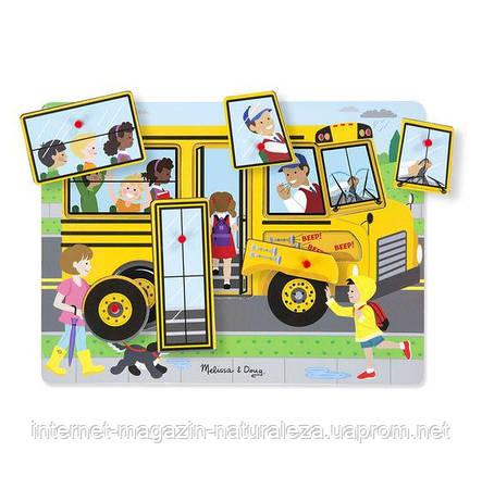 Звуковий пазл Шкільний автобус Melissa&Doug, фото 2