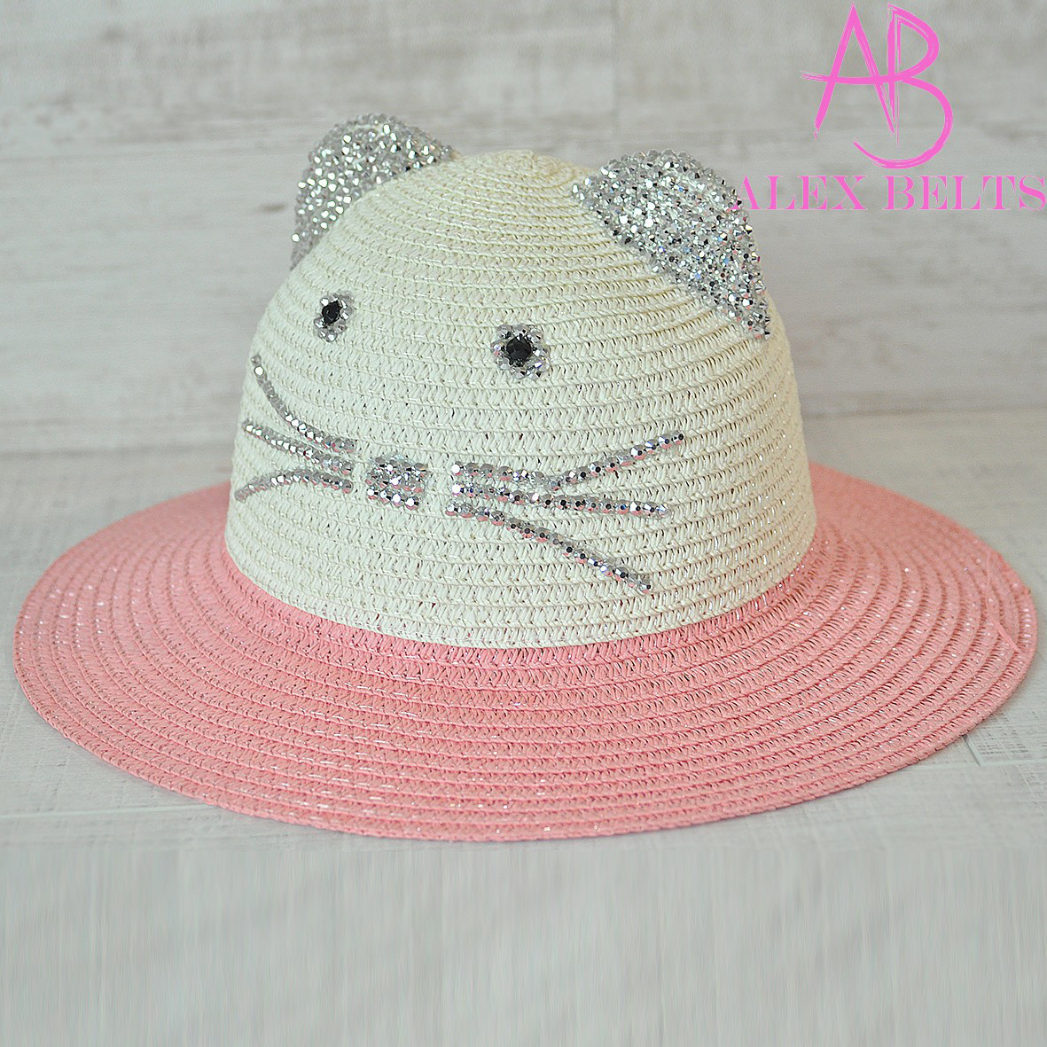Детская шляпа (крем-коралл) кошечка р. 50-купить оптом в Одессе