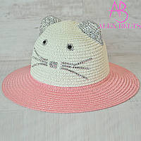 Детская шляпа «Кошечка»  |  р. 52-54