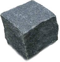 Брусчатка 10х10х10 колотая (черная)Габбро