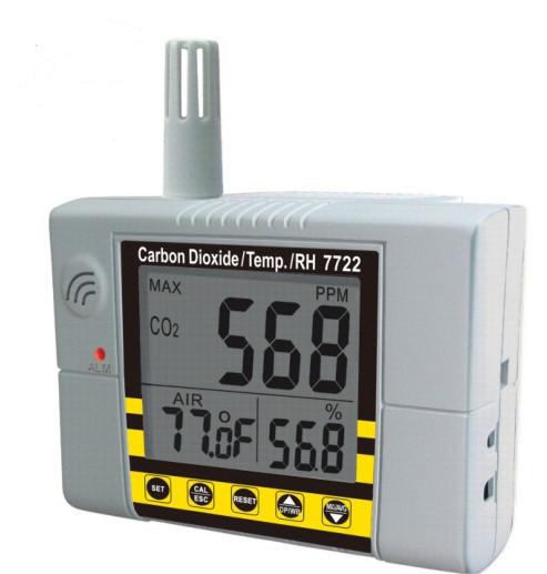AZ-7722 Стаціонарний СО2 монітор/термогігрометр-контролер