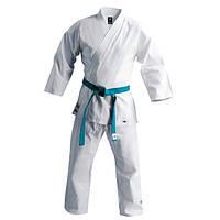 Кимоно карате белое NORIS MA-6016-0 (х-б, р-р 5 (130см), вес 0,85кг) 52-54 / 190 см.