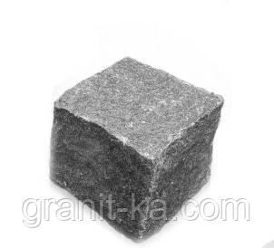 Брусчатка 5х5х5 колотая (черная)Габбро