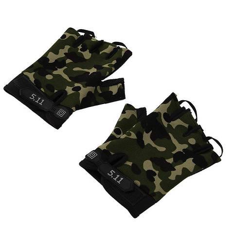 Перчатки беспалые тактические детские камуфляж 5.11, фото 2