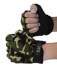 Перчатки беспалые тактические детские камуфляж 5.11, фото 3