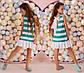 """Детское летнее стильное платье 356 """"Полоска Оборка Спина Бант"""" в расцветках, фото 3"""
