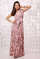 Длинное летнее платье в цветочный принт 17700PL, фото 1
