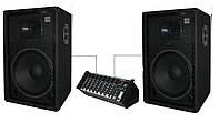 """Комплект акустики Sound Division для школы, кафе, дискотеки DJ-15SA244 700Вт, 15"""""""