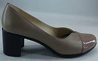 """Туфли женские на среднем каблуке из натуральной кожи от производителя модель """"Кэтрин-001"""""""