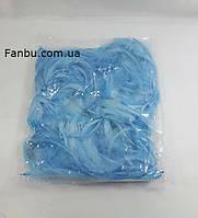 Декоративные голубые перья в пакете(1уп 120-130перьев), фото 1