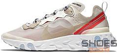 Женские кроссовки Nike React Element 87 Sail/Light Bone/White/Rush Orange/Black