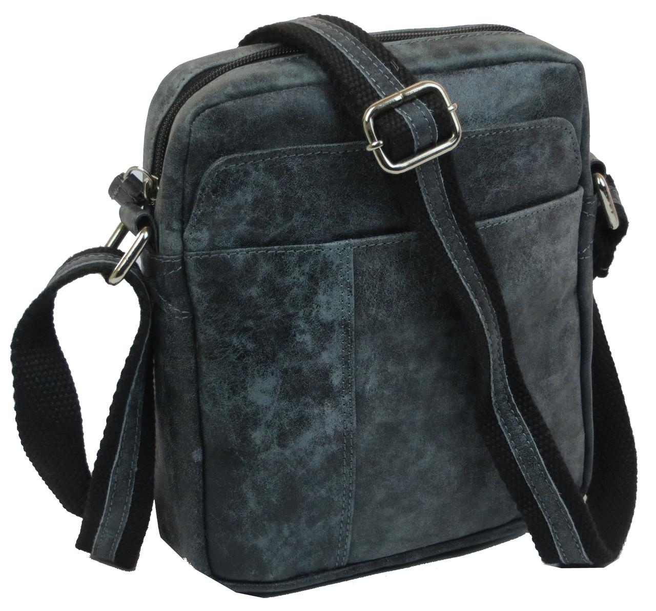 Мужская кожаная сумка Always Wild S241DIS Black