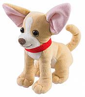 Маленькая мягкая игрушка Собачка чихуахуа коричневый