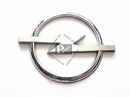 Эмблема Opel на двухстороннем скотче (d-100мм, l(длина)-130мм) - Значок с логотипом Опель