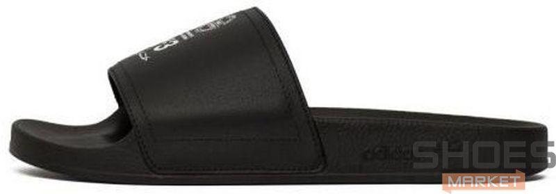 Женские тапочки Adidas Y-3 Adilette Core Black / Ftwr White / Core Black AC7525 , Адидас У-3