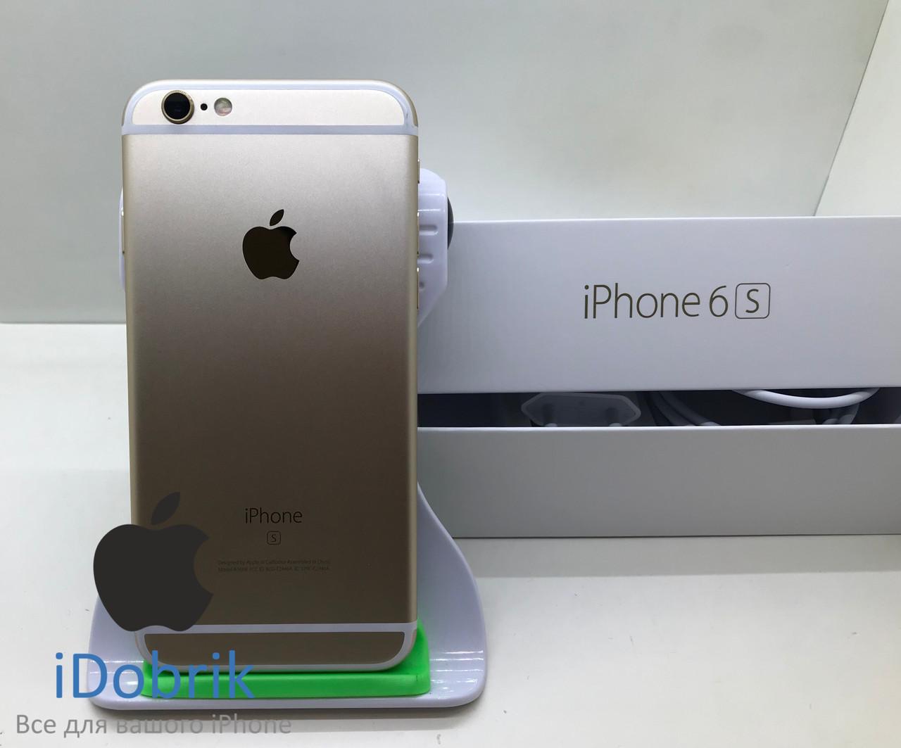 Телефон Apple iPhone 6s 16gb Gold Neverlock 9/10