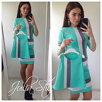 Трикотажное платье для мамы и дочки комплект 18240MD