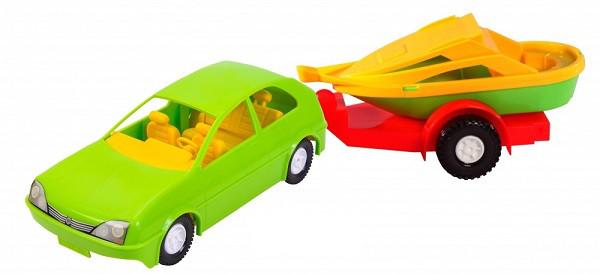 Игрушечная машинка авто-купе с прицепом Wader (39002), фото 1