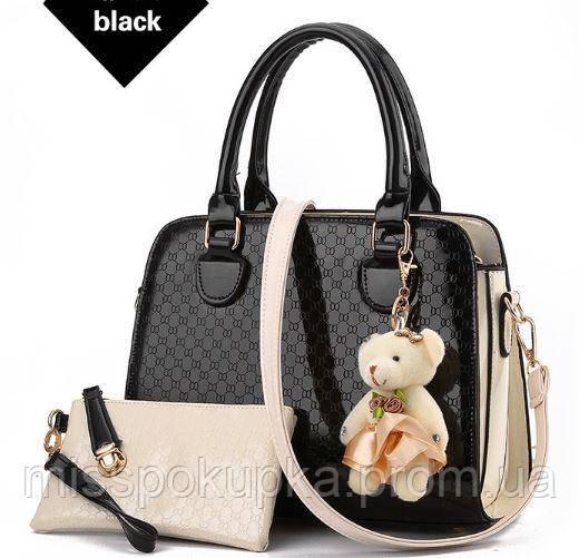 Уценка !Стильная женская сумка Zhe Ren  черная