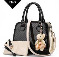 Уцінка !Стильна жіноча сумка Zhe Ren чорна, фото 1
