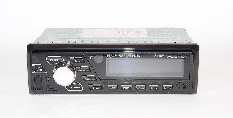 Автомагнитола Pioneer 1013BT 50W*4 с bluetooth/MP3/SD/USB/AUX/FM