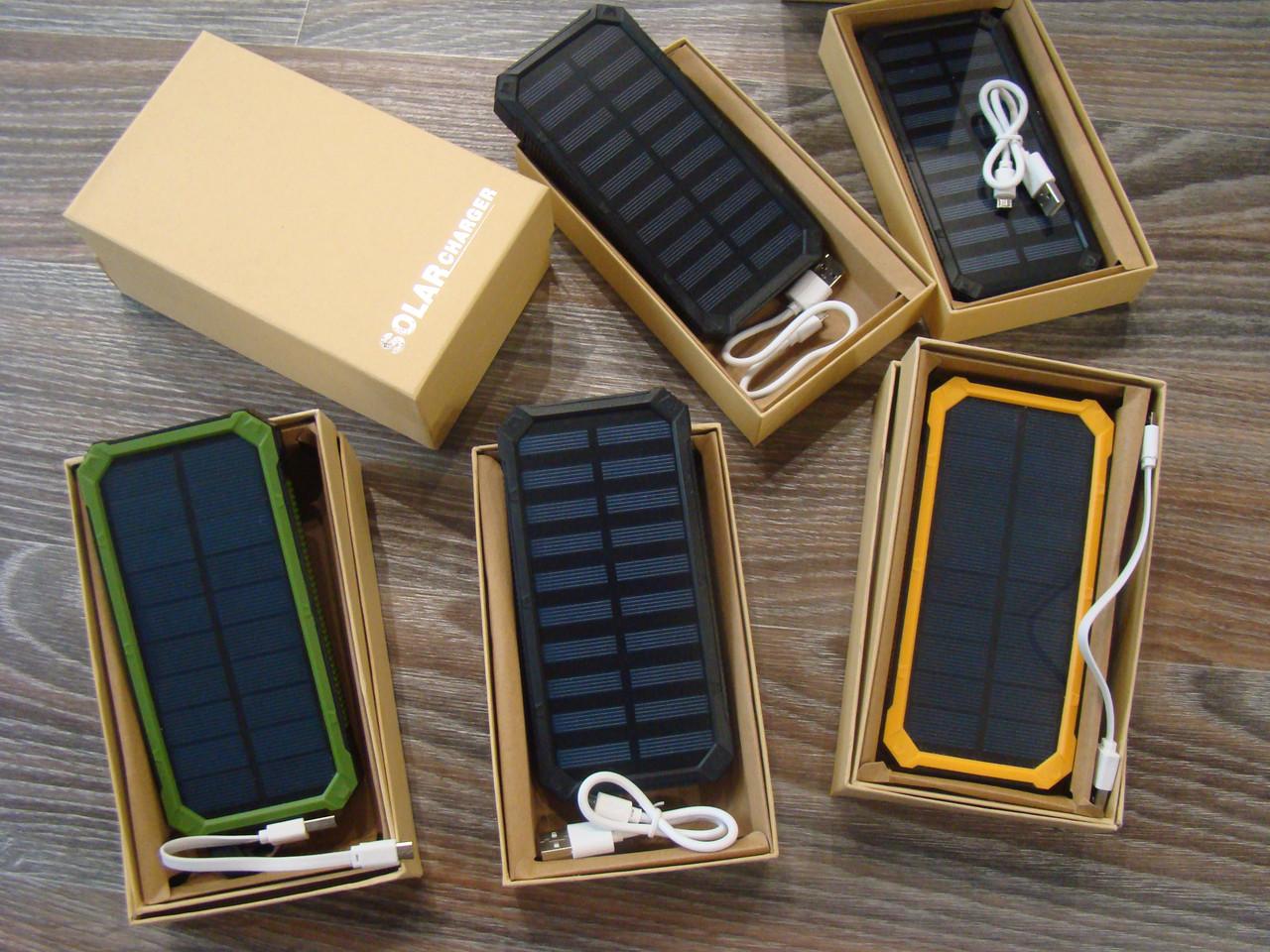 Power Bank Solar 40000 с солнечной батареей   Повер Банк LED   Портативное зарядное устройство   Пауэр Солар