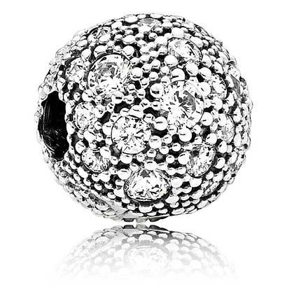 Серебряная абстрактная клипса в стиле Pandora