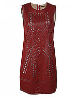Платье красное из искусственной кожи от Yes! Miss в размере M
