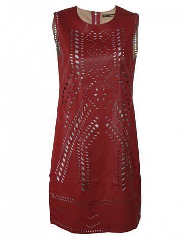 Платье красное из искусственной кожи от Yes! Miss в размере M, фото 2